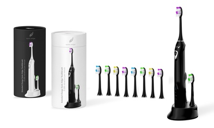 Sonic Edge Rechargeable Toothbrush with 8 Brush Heads