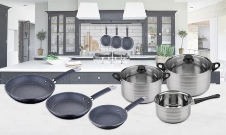 San Ignacio ThreePiece Pan Set, FivePiece Cookware Set or Both With Free Delivery