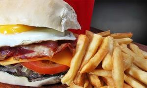 MB Sandwiches & Burguers & Grill: Pága $209 por 2 hamburguesas caseras o sándwiches + gaseosas + papas en MB Sandwiches & Burguers & Grill. 3 sucursales