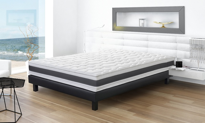 jusqu 39 80 matelas m moire de forme groupon. Black Bedroom Furniture Sets. Home Design Ideas