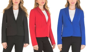 Velucci Blazers for Women One Button Classic Blazer with Full Lining