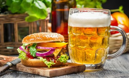 image for Burger and Beer for Two at Stables Bar & Grill (Up to 46% Off)