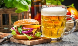 Stables Bar & Grill: Burger and Beer for Two at Stables Bar & Grill (Up to 46% Off)