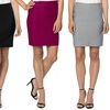 Velucci Women's Stretchy Mini Pencil Skirt