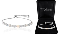 Groupon.com deals on Fiery Opal Tennis Bracelet With Swarovski Crystals by Nina & Grace
