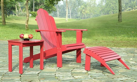 Outdoor adirondack furniture groupon goods for Outdoor furniture groupon