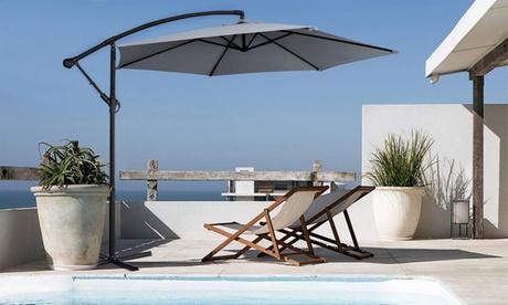 Sombrillas de jardín cuadradas o redondas de hasta 3 m de diámetro con base opcional