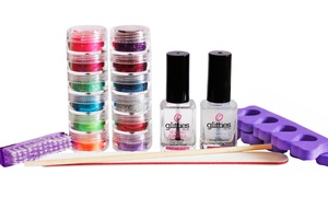 Glitties Nail Art: $39 for a One-Year Supply of Do-It-Yourself Glitter Toes Supplies from Glitties Nail Art (55% Value)