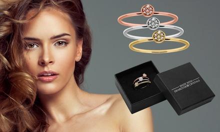 Set van 3 ringen met Swarovski®kristallen