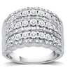 1/2 CTTW Round and Baguette Diamond Ring in Sterling Silver by DeCarat