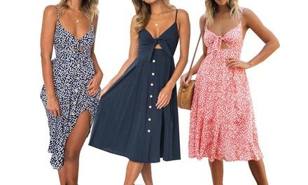 1 o 2 vestidos vintage con nudo en la cintura