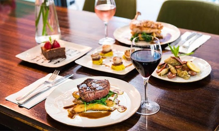 ThreeCourse Australian Dinner with Wine for Two $55 or Four People $109 at Dusty Cafe & Bar Up to $200 Value