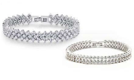 Funkelndes Armband in zwei Ausführungen verziert mit Kristallen