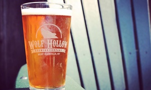 Wolf Hollow Brewery: Beer Tasting Package for One, Two, or Four at Wolf Hollow Brewery (Up to 47% Off)