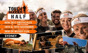 Tough Mudder: Tough Mudder Half Entry + Shirt, Headband & Bag for 1 ($129), 2 ($219), 4 ($428) or 8 People ($826) (Up to $1112 Value)