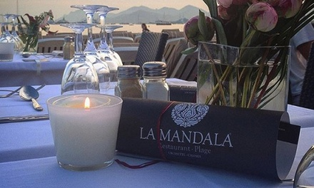 Menu découverte pour 2 personnes à 57 € à la Plage Restaurant La Mandala