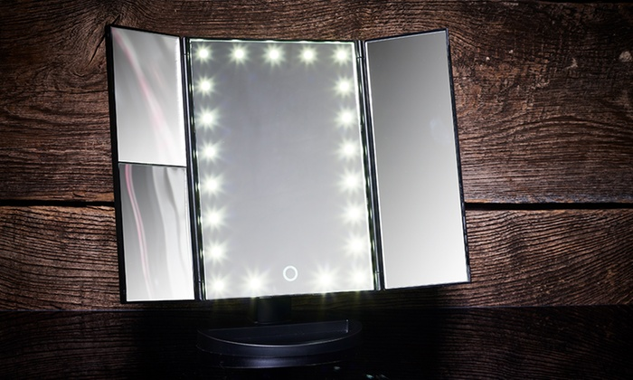 Specchio per make up con luci led groupon - Specchio make up ...