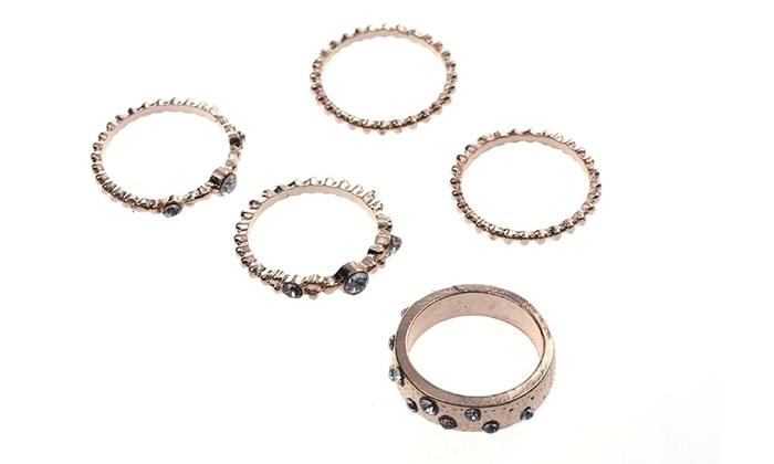 Set di 5 anelli Affinity