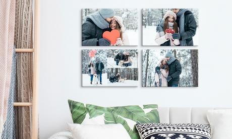 1, 2 o 4 foto-lienzos con tamaño a elegir desde 3,99 € con Photo Gift