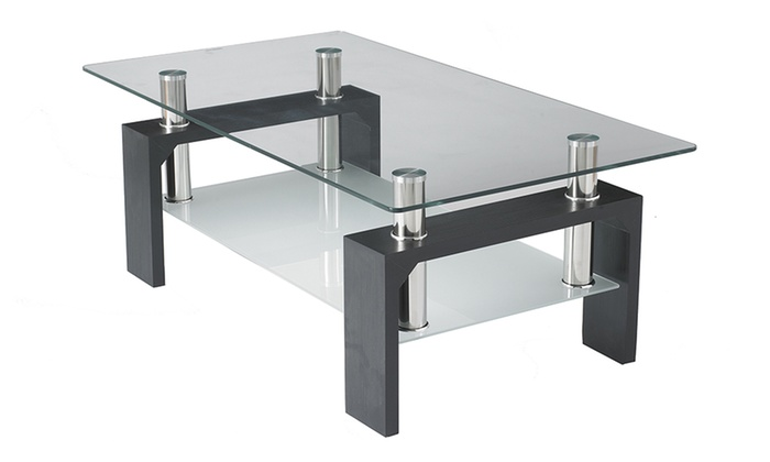 Rectangular Glass Coffee Table Groupon Goods