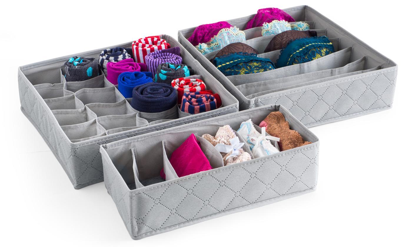 Three-Pack Storage Drawer Organiser