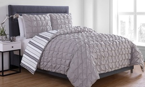 Pintuck Pleated Duvet Cover Set (2- or 3-Piece)