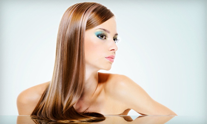Glynn Jones Salon - Multiple Locations: Keratin Treatment or Brazilian Blowout with Option for Haircut at Glynn Jones Salon (Up to 58% Off)
