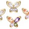 Butterfly Zirconia Stud Earrings