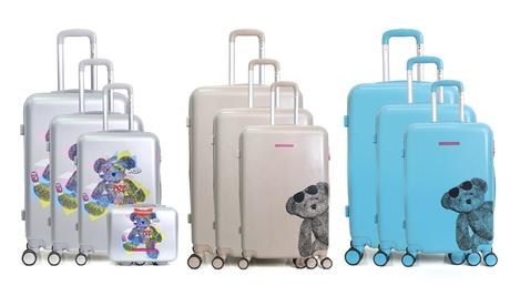 Set de 3 maletas Lulu Castagnette modelos Lunette y Pop con neceser