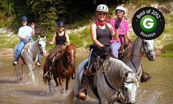 Cypress Trails Equestrian Center - Houston: Trail-Ride Experience for Two, Four, or Six at Cypress Trails Equestrian Center (Up to 53% Off)