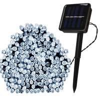 Groupon.com deals on 100 LED Solar-Powered Christmas Fairy String Lights