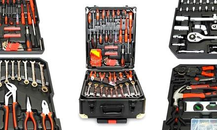 Valise à outils de 186 pièces avec système de cliquets (SaintEtienne)