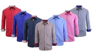 Men's Long Sleeve Casual Button-Down Dress Shirt