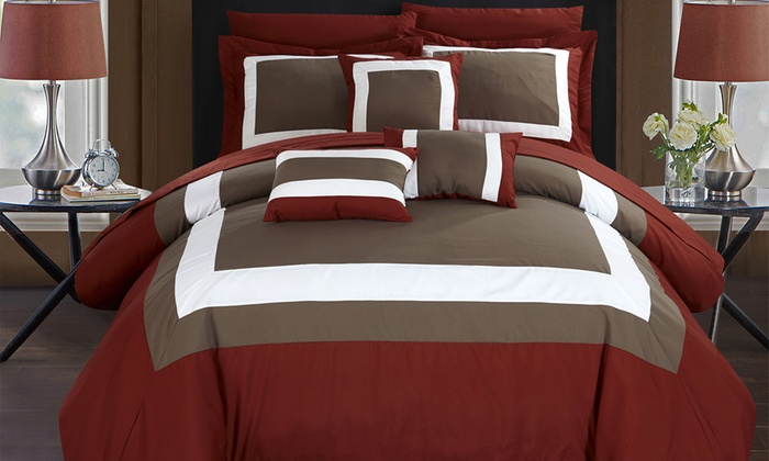 Up To 79 Off On 10pc Bed In A Bag Comforter Sets