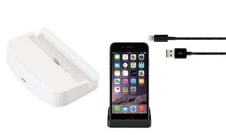 iProtect Dockingstation für Apple iPhone 6, 6S, 6+, 6S+, 7 oder 7+, optional mit Datenkabel (bis zu 83% sparen*)