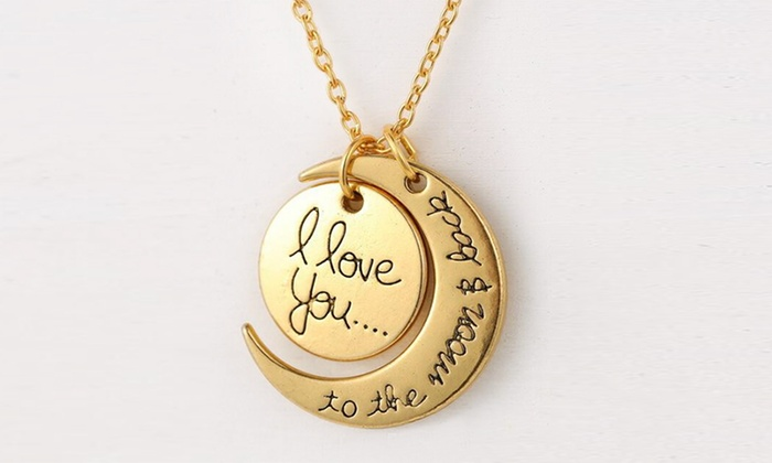 Customizable i love you to the moon and back pendant groupon customizable i love you to the moon and back pendant customizable i mozeypictures Choice Image