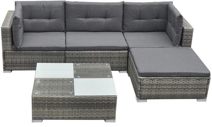 Conjunto de sofás de jardín | Groupon Goods