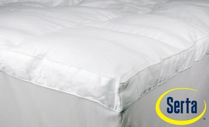 serta perfect sleeper fiber baffle box mattress topper - Serta Mattress Topper