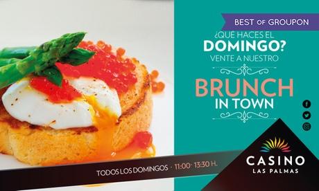 Domingo de brunch para 2 o 4 con plato de huevos y buffet libre de comida y bebidas desde 29,90 € en Casino Las Palmas