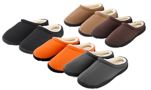 NORTY Slip On Memory Foam Clog Slippers for Men Faux Suede//Microfiber//Flannel