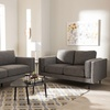 Modern Fabric Upholstered Living Room Set (2-Piece)