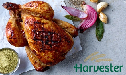 Choice of Main Course with Drink and Unlimited Salad at Harvester, Nationwide
