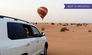 Sindbad Gulf Balloons L.L.C: Hot Air Balloon Ride Plus Land Cruiser Pick-Up and Drop-Off for One Child or Up to Two Adults with Sindbad Gulf Balloons