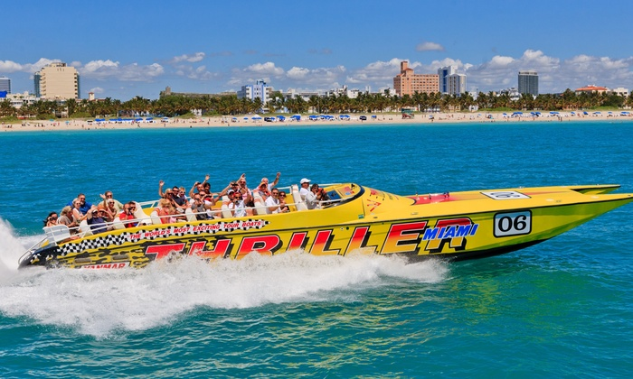 Save 24% on 45-Minute Thriller Speedboat Tour for One, Two, or Four from Thriller Miami Speedboat Adventures
