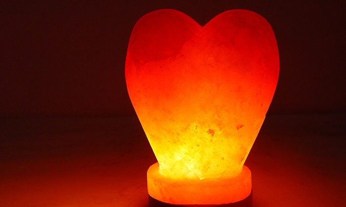 Himalayan Heart-Shaped Salt Lamp Groupon