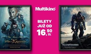 Multikino: Bilet na dowolny seans 2D ważny przez cały tydzień od 16,50 zł w sieci kin Multikino (do -46%)