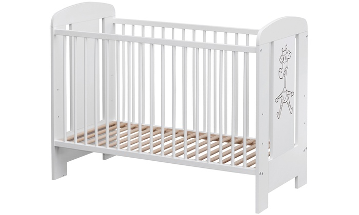 Amal 2 White Cot with Giraffe Decor With Free Delivery
