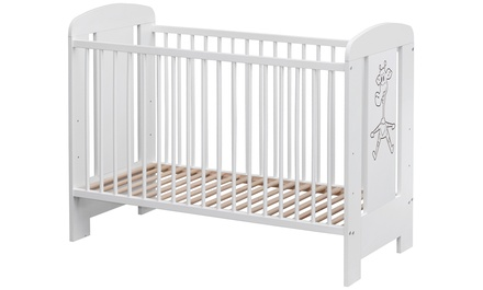 White Cot with Giraffe Decor