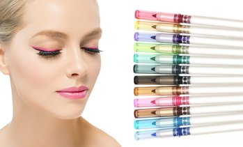 Intense Multi-Color Eyeliner Pencils (12-Pack)