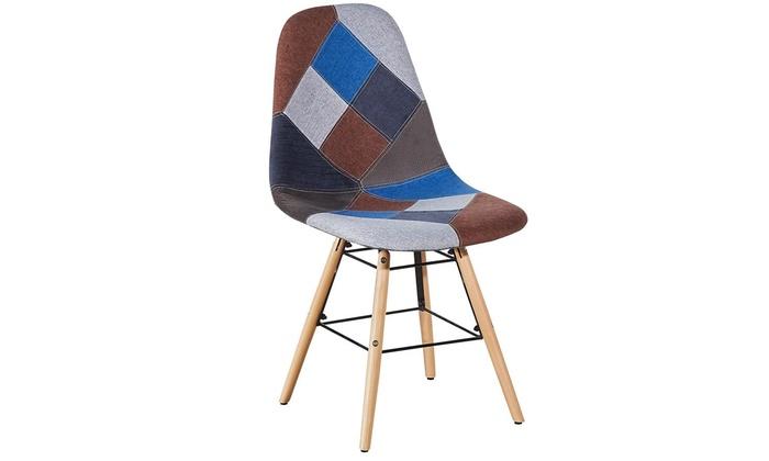 Set da 4 sedie patchwork | Groupon